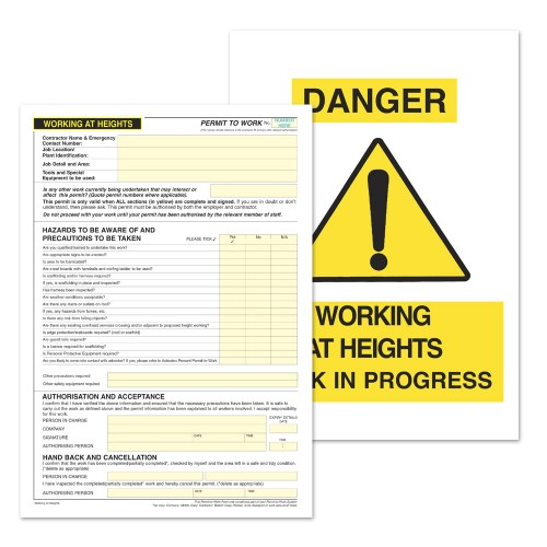 Working at height permit to work kalamazoo direct for Working at height permit to work template