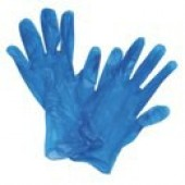 Everyday Vinyl gloves, BLUE Medium x 100
