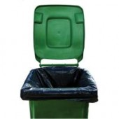 2Work Black Wheelie Bin Liners Medium Duty