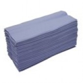 2work Blue C-Fold Hand Towels 1 ply