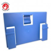 Touch Safe™ Patient Record Bed End Unit (Blue)