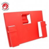 Touch Safe™ Patient Record Bed End Unit (Red)