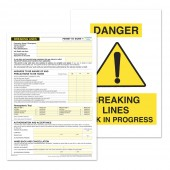 Breaking Lines Permit to Work (Pack of 5)