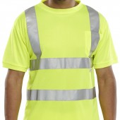 Hi-Vis T Shirt with Pocket (10 Pack)