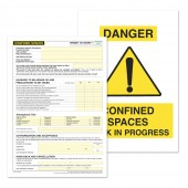 Confined Spaces Permit to Work (Pack of 5)