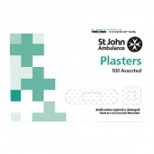St Johns Ambulance Detectable Blue Plasters assorted sizes pack 100