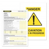 Excavation Permit to Work (Pack of 5)