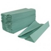 2work Green C-Fold Hand Towels 1 ply