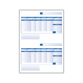 Addressable Payslip (Two Per Page) for use with QuickBooks software pack 500