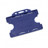 Landscape Double Sided Rigid ID Card/Badge Holder (Royal Blue)