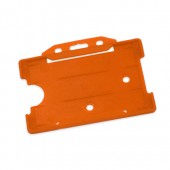 Landscape Rigid ID Card/Badge Holder (Orange)