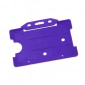 Landscape Rigid ID Card/Badge Holder (Purple)