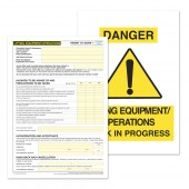 Lifting Equipment / Operations Permit to Work (Pack of 5)