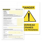 Overhead Cranes Permit to Work (Pack of 5)