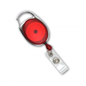 Premier Badge Reel with Retractable Cord (Red)