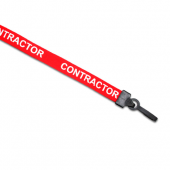 Preprinted Contractor Lanyard (Red)
