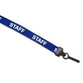 Preprinted Staff Lanyard (Blue)