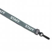Preprinted Staff Lanyard (Grey)
