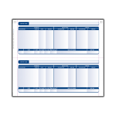 Sage Compatible Payslip - Plain 2 Per A4 Sheet for Laser and Inkjet Printers