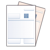 Sage Compatible 2 Part Invoice (Collated)