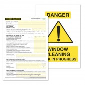 Window Cleaning Permit to Work (Pack of 5)