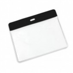Visitor Pass / ID Card Wallet Landscape 95mm x 65mm (black)