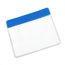 Visitor Pass / ID Card Wallet Landscape 95mm x 65mm (royal blue)