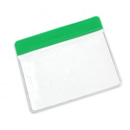 Visitor Pass / ID Card Wallet Landscape 95mm x 65mm (green)