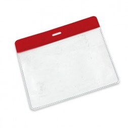 Visitor Pass / ID Card Wallet Landscape 95mm x 65mm (red)