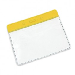 Visitor Pass / ID Card Wallet Landscape 95mm x 65mm (yellow)