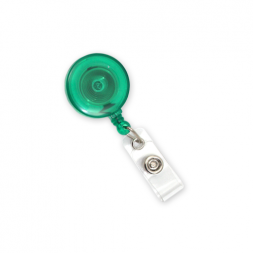 Jazz Badge Reel with Strap Fitting (Green)