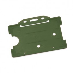 Landscape Rigid ID Card/Badge Holder (Green)