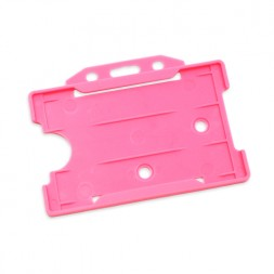 Landscape Rigid ID Card/Badge Holder (Pink)