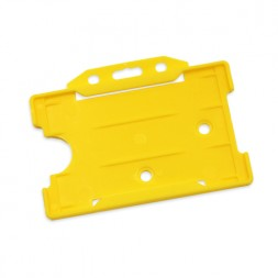 Landscape Rigid ID Card/Badge Holder (Yellow)