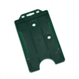 Portrait Rigid ID Card/Badge Holder (Green)