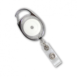 Premier Badge Reel with Retractable Cord (Clear)