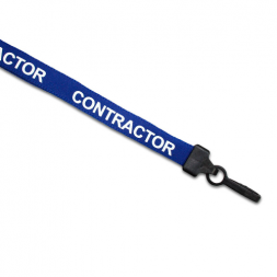 Preprinted Contractor Lanyard (Blue)