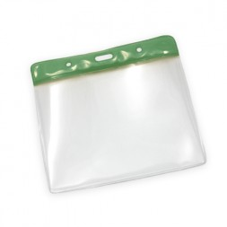 Landscape Plastic Wallet 78x112mm (Green)