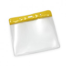Landscape Plastic Wallet 78x112mm (Yellow)