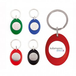 Personalised Promotional Trolley Keyring