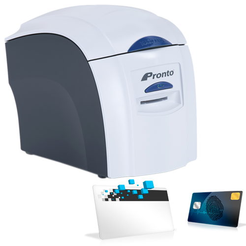Pronto id card printer with mag stripe kalamazoo direct pronto magicard id card printer with mag stripe encoder reheart Image collections