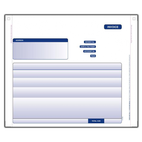 Oxford Software Invoice Continuous Two Part Set - Invoice printing software