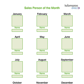 Sales Person of the Month Board