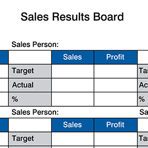 Sales Results Board